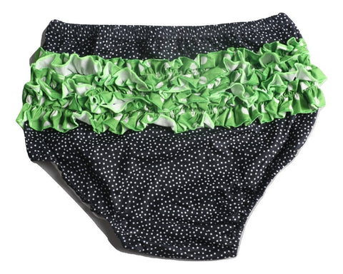 Halloween Spider Black & Green Dots Matching Shorts Bloomers