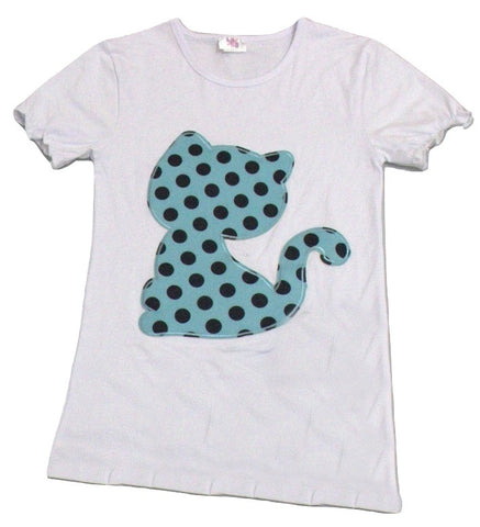 Kitty Cat Polka Dots Top Shirt