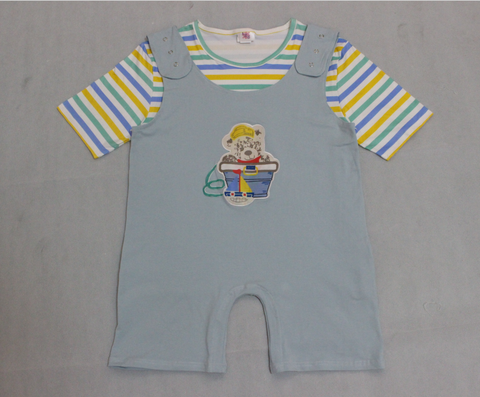 DISCONTINUED Lil Bear 2pc Shirt & Matching Romper Set Outfits * Look at Length Measurements