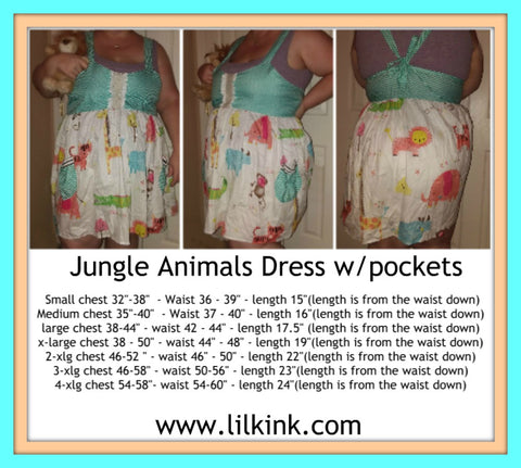 Jungle Animals Dress Plus Size