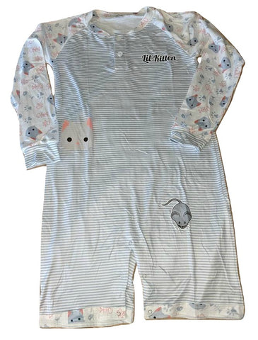 Long Sleeve Lil Kitten Romper Onesie * Sizes run Large, Check Measurements
