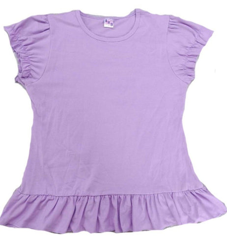 Lil Baby Doll Lavender Puffy Short Sleeve Round Neck T-Shirt Clearance