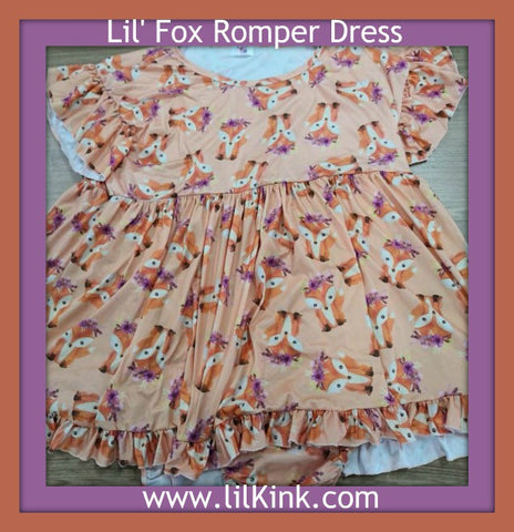 Lil' Fox Romper Bodysuit Dress