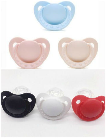 Adult Sized Silicone Pacifier/Dummy Style #1