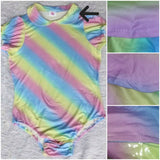 ONESIE DISCONTINUED Manufacturing defect COLLAR Lil Rainbow Onesies Clearance