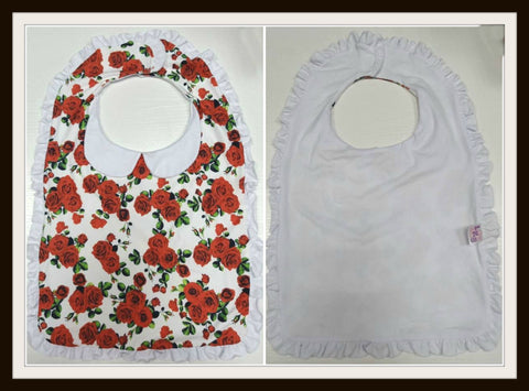 PREPPY BABY VINTAGE FLORAL Matching Bib CLEARANCE