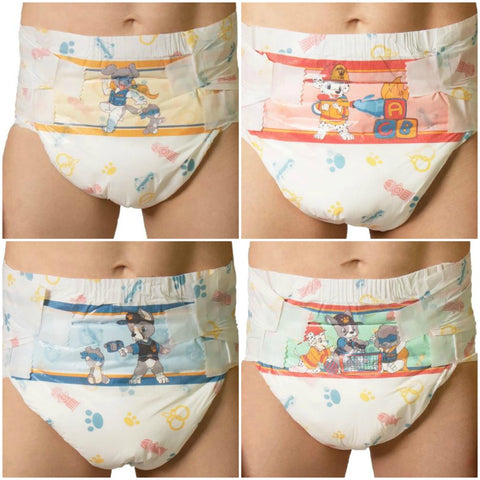 Tykables Puppers Diapers ABDL Adult Diaper -1 Single Diaper Sample