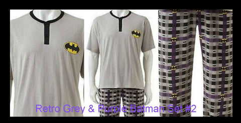 Batman Men's Knit Sleep Tee & Fleece Pants pajamas Set