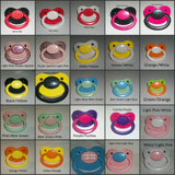 Daddy's Lil Diva Pacifiers variety of colors