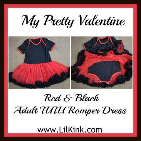 Discontinued My Pretty Valentine Adult TuTu Romper Dress Clearance