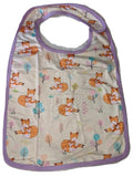 Sleepy Fox Matching Bib