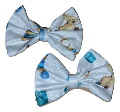 Vintage Toys Matching Boutique Fabric Hair Bow 2pc Set