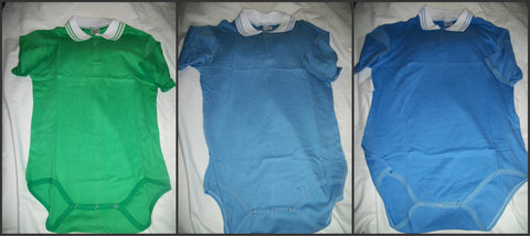 Discontinued Collared Onesie  #41 , #42, #43 Clearance