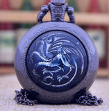 Game of Dragons Necklace Pocket Watches NW107