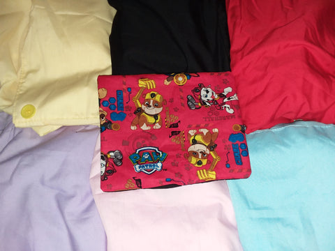 Cartoon Dog Pocket Romper in sizes Small - Medium - Large - XLarge - 2X - 3x - 4X OAS353