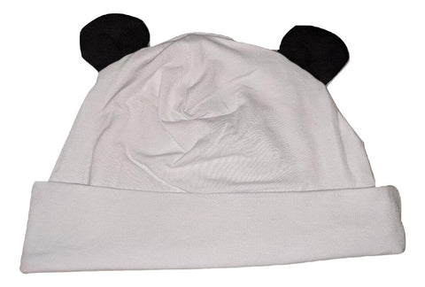Panda Bear MATCHING Boutique Hat Cap White/Black