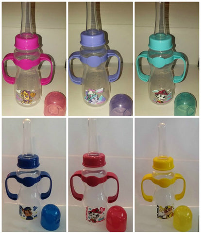 Dog Paw 9oz Baby Bottle with  ADULT Teat & handles
