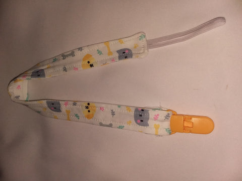 "KITTY & PUPPY Matching Fabric Pacifier Clips - 17"" pc1865"