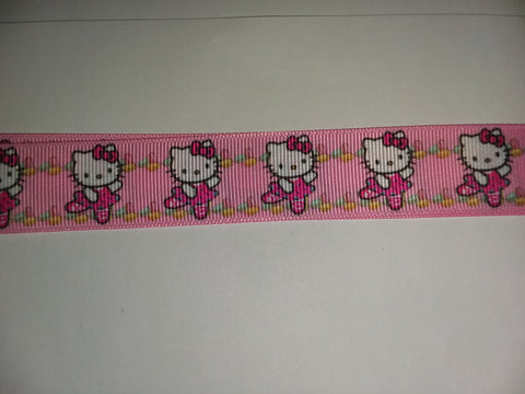 "KITTY White Hand Crafted Pacifier Dummy Clip - 11""-12"""