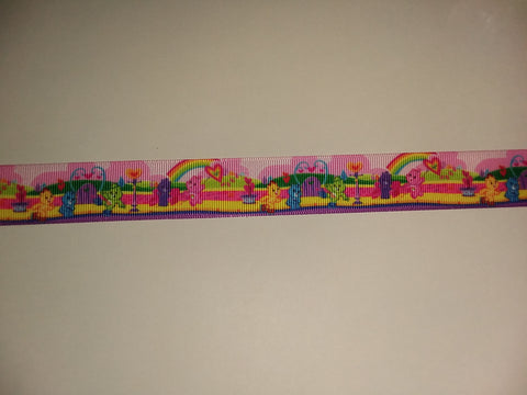"BEARS Rainbow Hand Crafted Pacifier Dummy Clip - 11""-12"" pc403"