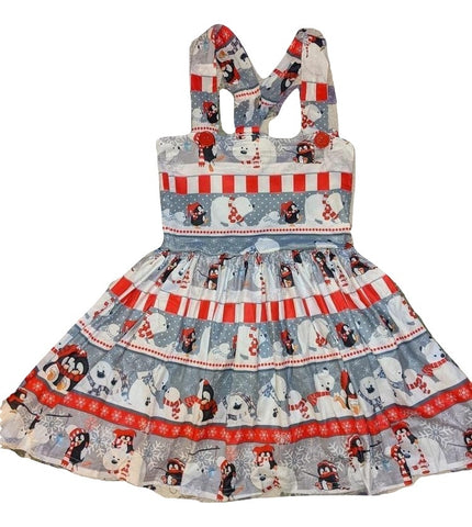 Suspender POLAR ANIMALS BEARS & PENGUINS Jumper Skirt Dress