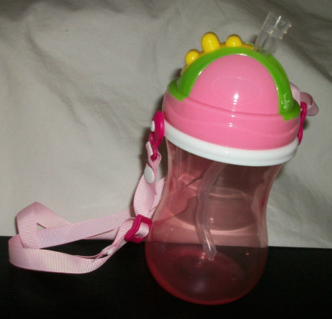 New 11.8 Ounce Straw Bottle Sippy Training Cup