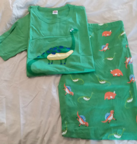 DISCONTINUED Dinosaurs Cotton 2pc pajamas short SET Clearance