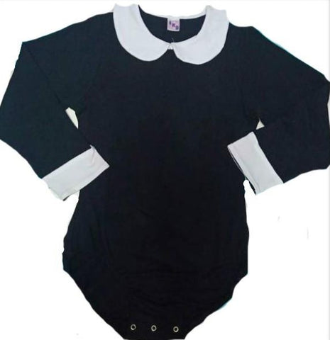 Preppy Baby Long Sleeve Onesies w/Peter Pan Style Collar xs-4x * New Size Chart