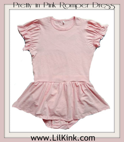 Pretty in Pink Romper Bodysuit Dress * New Size Chart