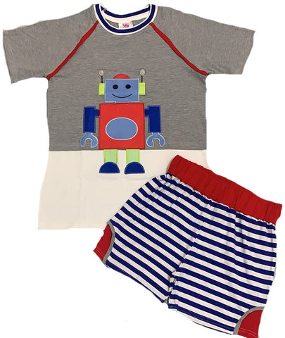 Lil Robot 2pc Shirt & Matching Shorts Outfits