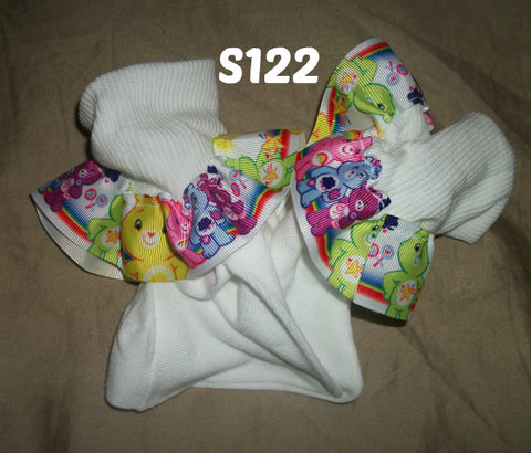 Bear Rainbow Socks S122