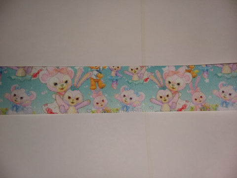 Bear & Bunny Custom Made Ribbon Socks s294