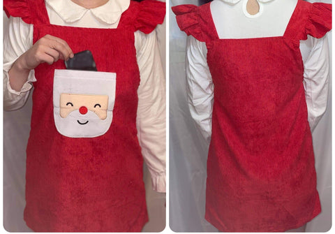 CORDUROY Santa Matching Jumper Matching Dress * Look over Measurements