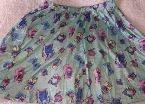 Mega Kitty Arcade Gamer Skirt Clearance
