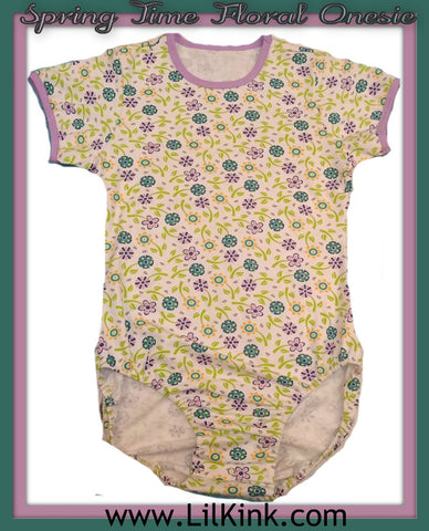 Onesie DISCONTINUED Short Sleeve Spring Time Floral Onesie * New Size Chart Clearance