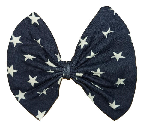 TWINKLE LITTLE STAR MATCHING Boutique Fabric Hair Bow Clearance
