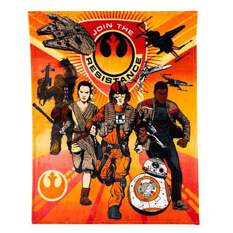 "Star Wars #TB100 50""x60"" Plush Throw Blanket"