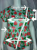 ROMPER DRESS DISCONTINUED Strawberry Summer Romper Bodysuit Dress Clearance