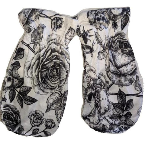 Goth Roses Matching Mittens