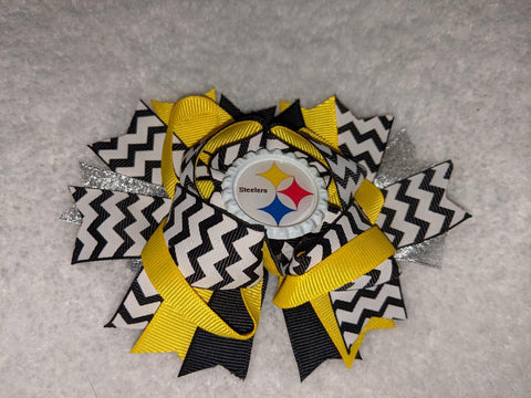 Steelers Football Hairbow Boutique Hair Bow