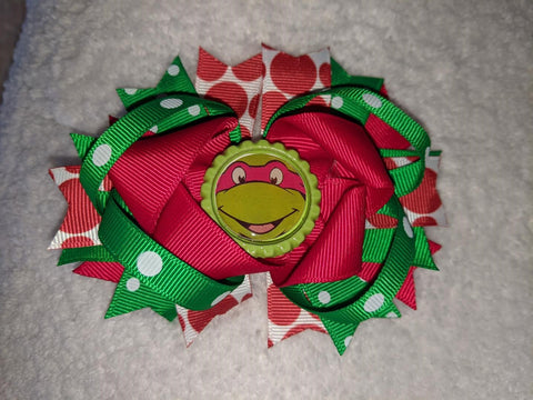 Turtles Hero Hairbow Boutique Hair Bow