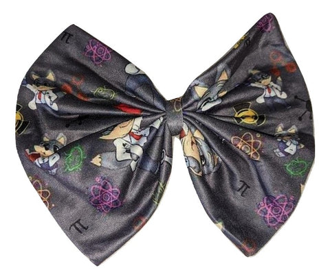 Professor Wolf Boutique Fabric large Hair Bow Designed by @QueenPinPrincess