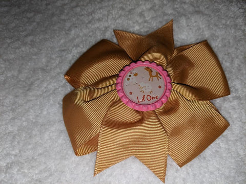 Lil One Bottle Cap Boutique Hair Bow
