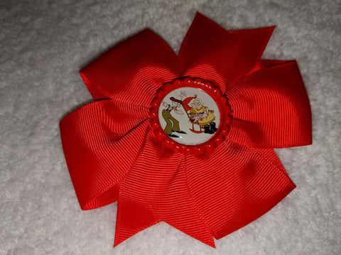 Courage Dog Bottle Cap Boutique Hair Bow