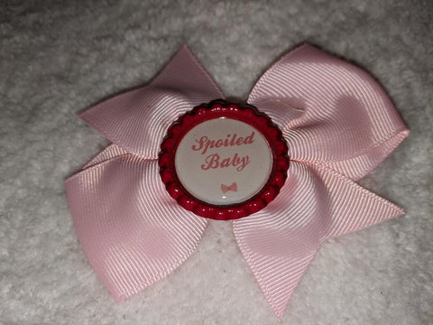 Spoiled Baby Bottle Cap Boutique Hair Bow