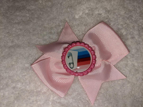ABDL Flag Bottle Cap Boutique Hair Bow