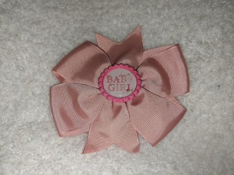 Baby Girl Bottle Cap Boutique Hair Bow