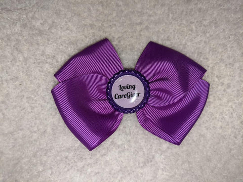 Loving CareGiver Bottle Cap Boutique Hair Bow