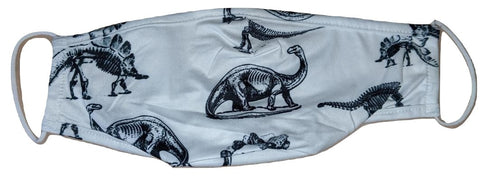 BLACK & WHITE DINOSAURS Matching Adult Face Masks