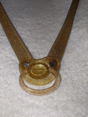 New ABDL Adult Pacifier Gag  Gold